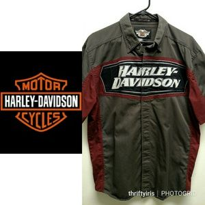 🏍 Harley Davidson WI Born Shop Shirt-Size Medium